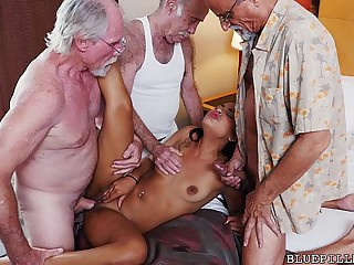 Teen Gangbanged by Grandpas