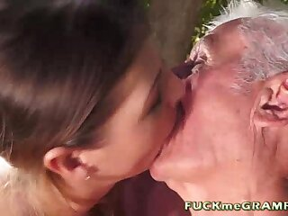 18 yo Janice Pounding two horny outdated guys