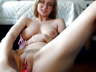 Busty step sister masturbating with dildo
