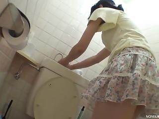 Japanese toilet masturbation