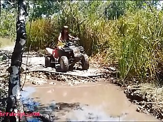 HD Thai teen  goes atving in paradise giving blowjob