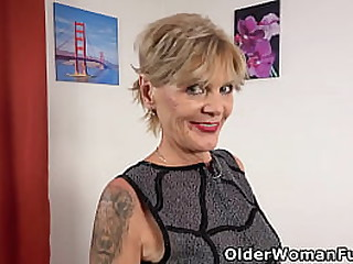 Over 60 granny Inke still loves to lube up her old pussy and pump it with a dildo (brand NEW video available in Full HD 1080P). Bonus video: Euro milf Kathy White.